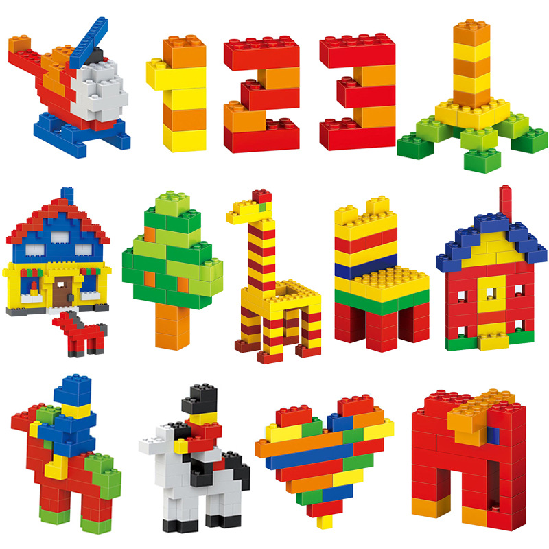 SINGDIO 1000pcs Building Blocks City DIY Creative Bricks Educational Toys For Child Self-locking bricks Learning intellect Toys 95pcs happy town building blocks diy early learning baby girls toys self locking bricks educational toys compatible with duplo