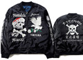 Japan Yokosuka Eagle skull skeleton embroidery wadded bomber jacket oversized kanye west