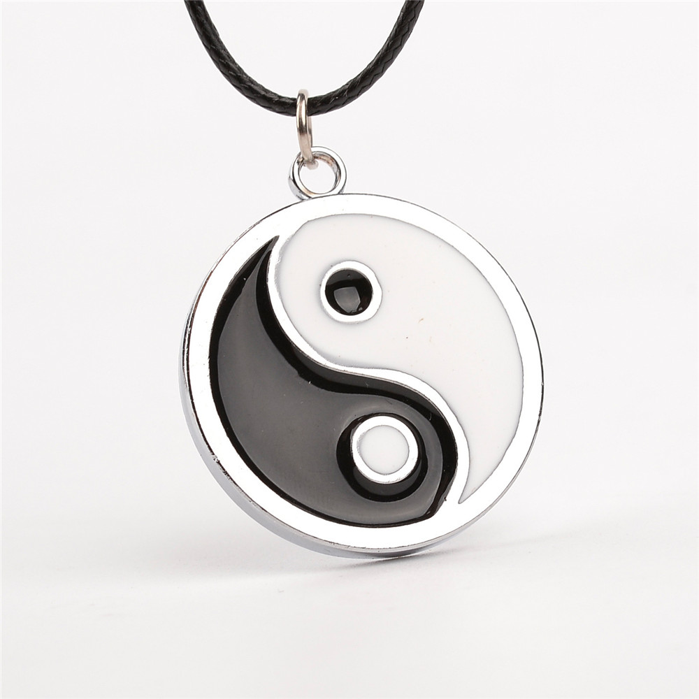 Simple Style Ying Yang Necklace 4