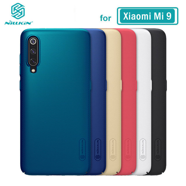 Xiaomi Mi 9 Ốp Lưng Mi9 Bao Da Nillkin Frosted Shield Cứng PC Lưng Vỏ Ốp Lưng cho Xiaomi Mi 9 SE Với giá Đỡ điện thoại