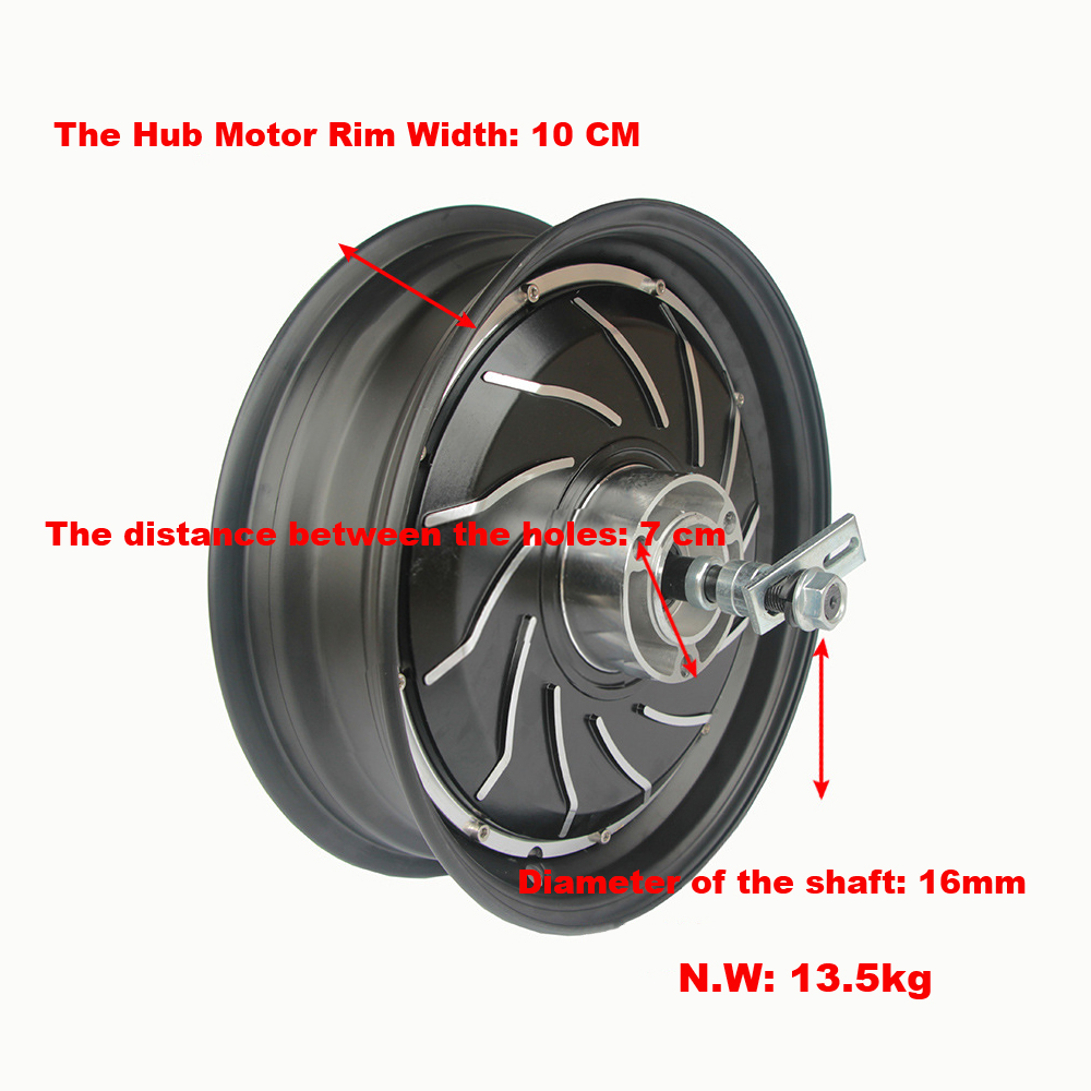 12 Inch 60v 72v 84V 96v Hub Motor 1000-3000W Hub Motor For Electric Motorcycle DIY Green Car DIY Electric Motorcycle Motor Ebike цены онлайн