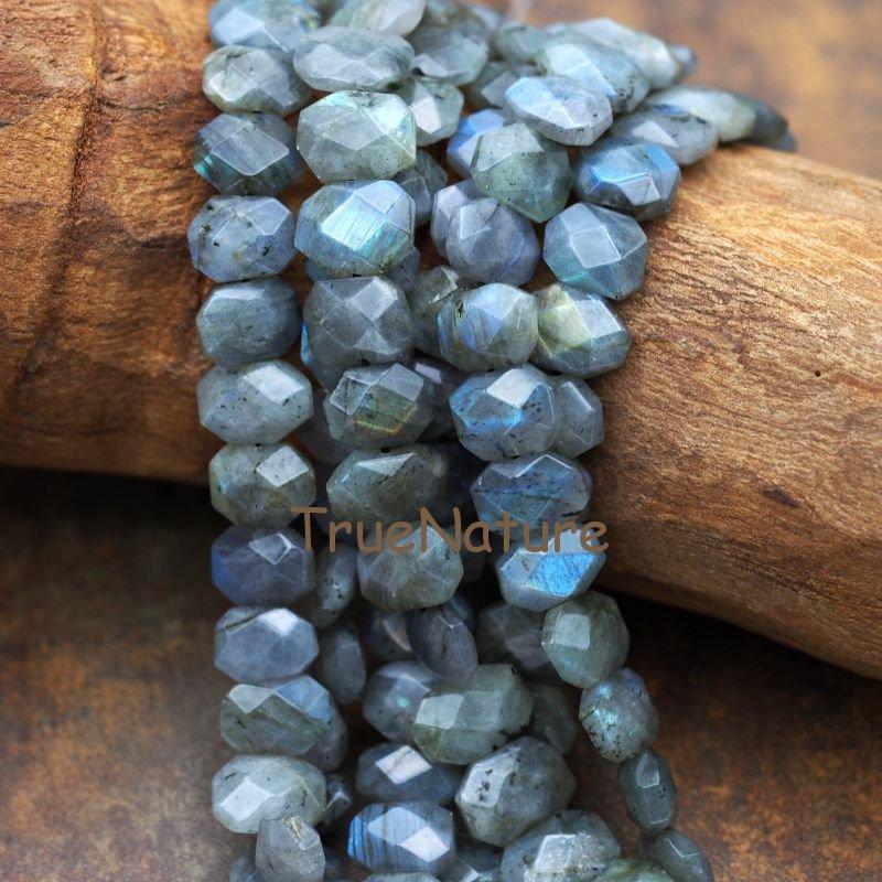 Livraison Gratuite À Facettes Labradorite Perles Bijoux Ronde Rectangle Pierres Perles Lâches Pour Collier Bracelet En 14*10mm BE5904