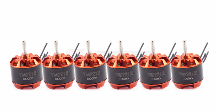 Freeshipping  6 PCS GARTT TM 2212 1000KV Brushless Motor For Multirotor Quadcopter Hexa 4x emax mt2213 935kv 2212 brushless motor for dji f450 x525 quadcopter multirotor