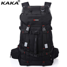 KAKA Fashion Super Capacity Men Women Backpack Brand 60L Lock Mountaineering Bagpack Water-proof Durable Travel Rucksack A035