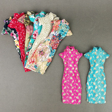 Handmade Cheongsam Dress Skirt Evening Party Gown Fashion Outfit Clothes For 1 6 Toy Barbie Doll