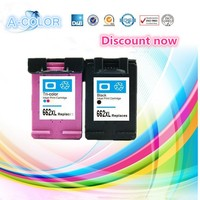 2 Pcs Black Tri Color Ink Cartridge For HP 662 For HP662 662 XL For Deskjet