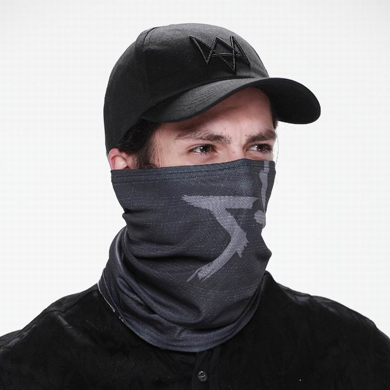 2 Pieces/set Watch Dogs Aiden Pearce Face Mask and Cap Watch Dogs  Cosplay Mask Hat Mens 6 Panel Tactique Baseball Caps  CS278