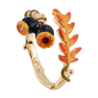 Les Nereides Lovely Black Poppy Flower Opening Ring For Women Party Jewelry Good Quality Lady Party