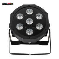 SHEHDS 4pcs/lot Hot Selling LED Flat Par 7x18W RGBWA+UV 6IN1 DMX512 Stage Effect Lighting For DJ Disco And Party Fast Shipping