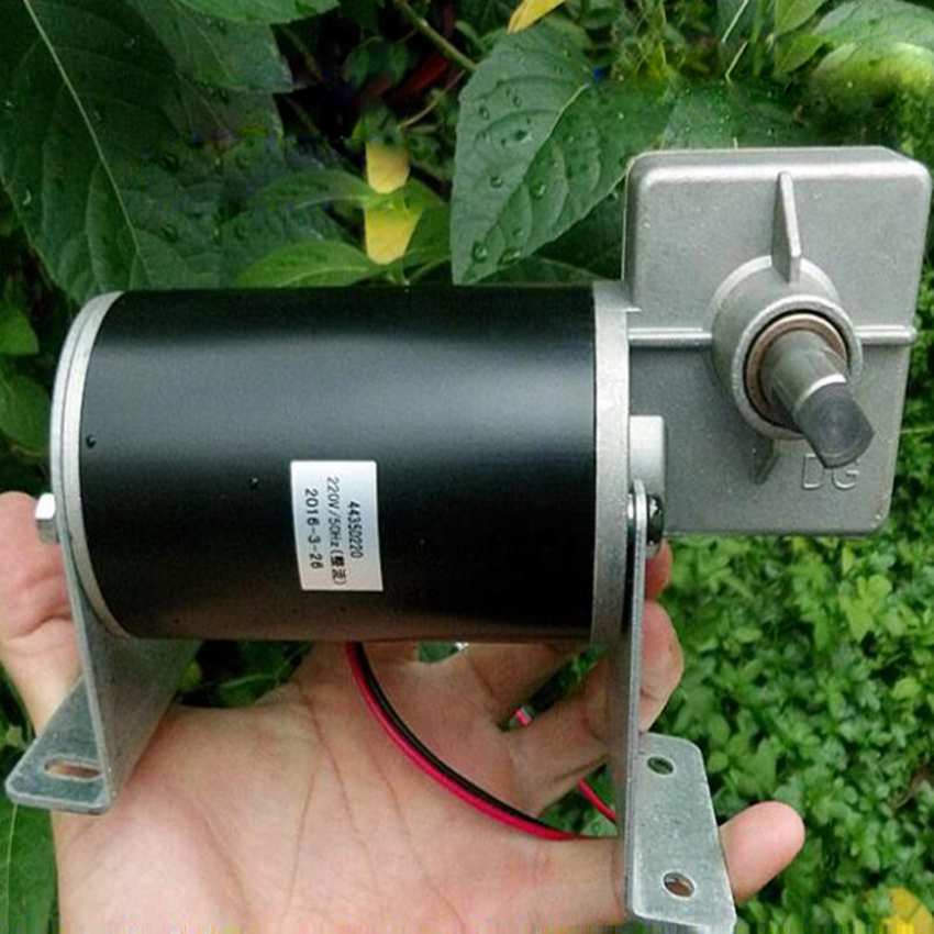 Worm Gear Reducer Motor To Large Deceleration Motor DC220V Mute With Base High Torque Motor Can Rotate Positive And Peverse