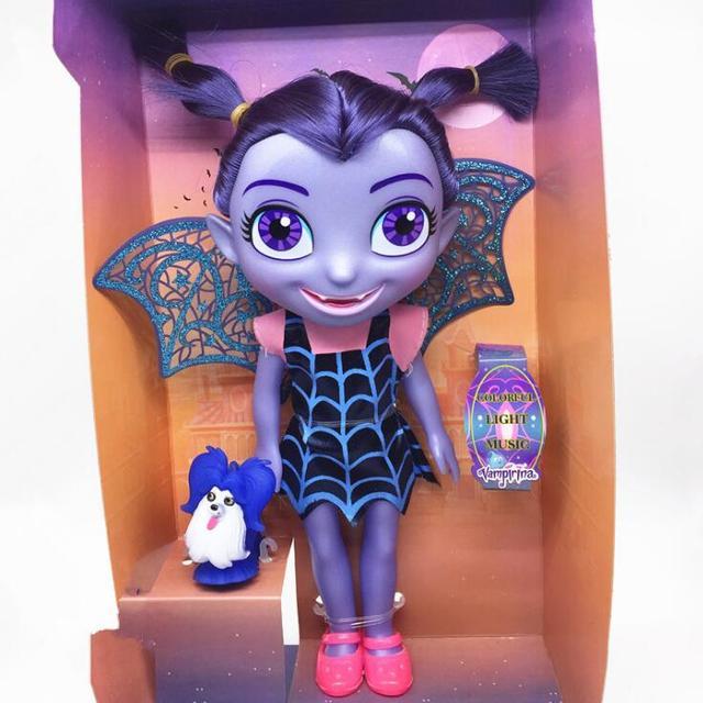В наличии большой Размеры vampirina Junior вамп Кукла со светом музыка подарки на день рождения фигурку Игрушечные лошадки для детей