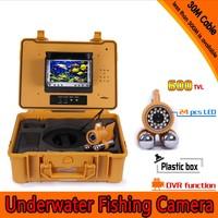 Kit de cámara de pesca submarina con barra de plomo Dual de 30 metros de profundidad y Monitor de 7 pulgadas con caja de plástico duro DVR integrada y amarilla|kit kits|kit camera|kit d -