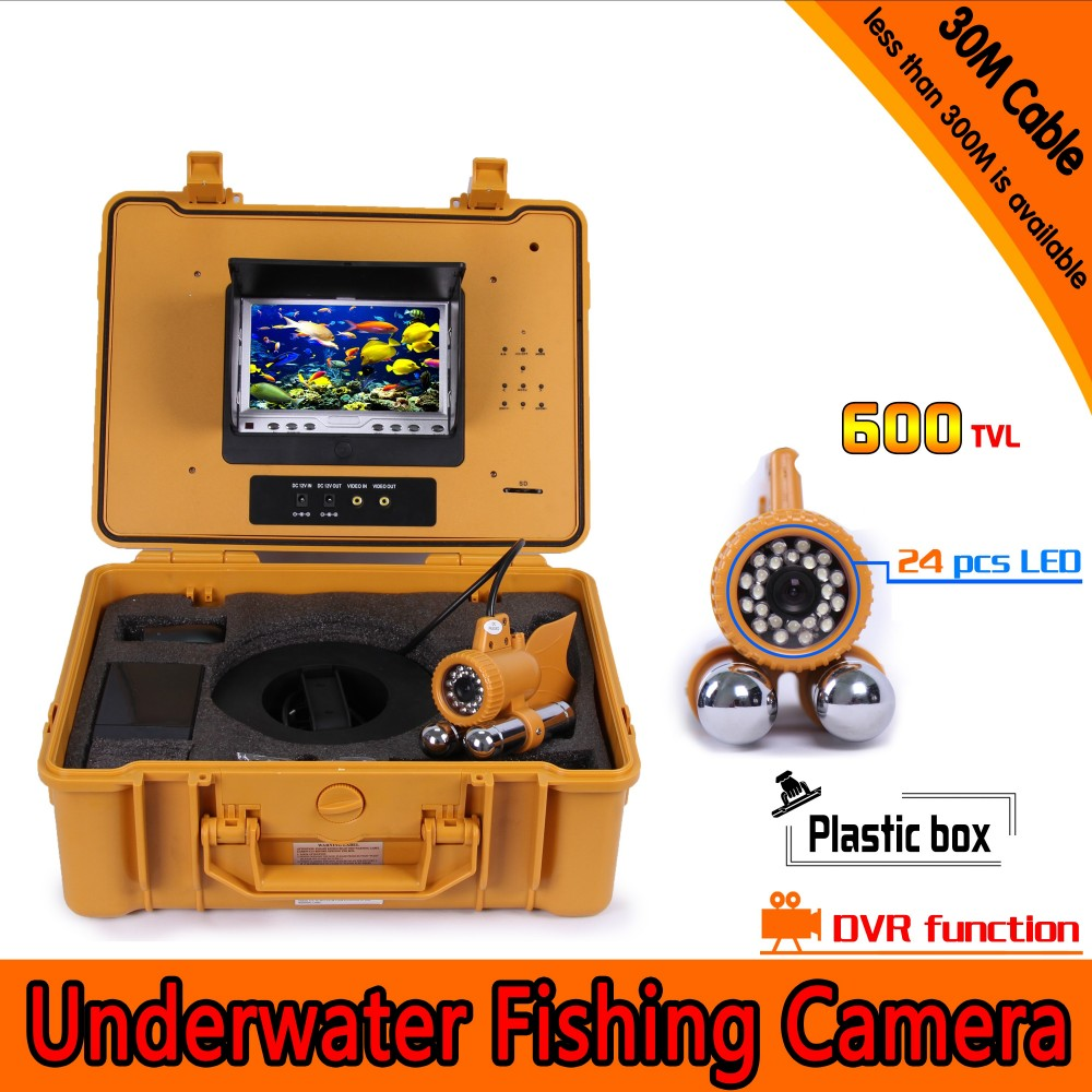Underwater Fishing Camera Kit with 30Meters Depth Dual Lead Bar & 7Inch Monitor with DVR Built-in & Yellow Hard Plastics CaseUnderwater Fishing Camera Kit with 30Meters Depth Dual Lead Bar & 7Inch Monitor with DVR Built-in & Yellow Hard Plastics Case