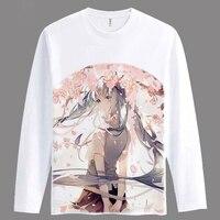 Bande dessinée Filles/femmes Hatsune Miku T-shirt Anime Animation Nouveauté À Manches Longues Hommes T-shirt de Cosplay Vêtements Tops Tee TX037