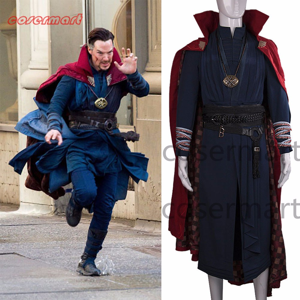 2016 Marvel Movie Doctor Strange Costume Cosplay Steve Full Set Costume Robe Halloween Costume_