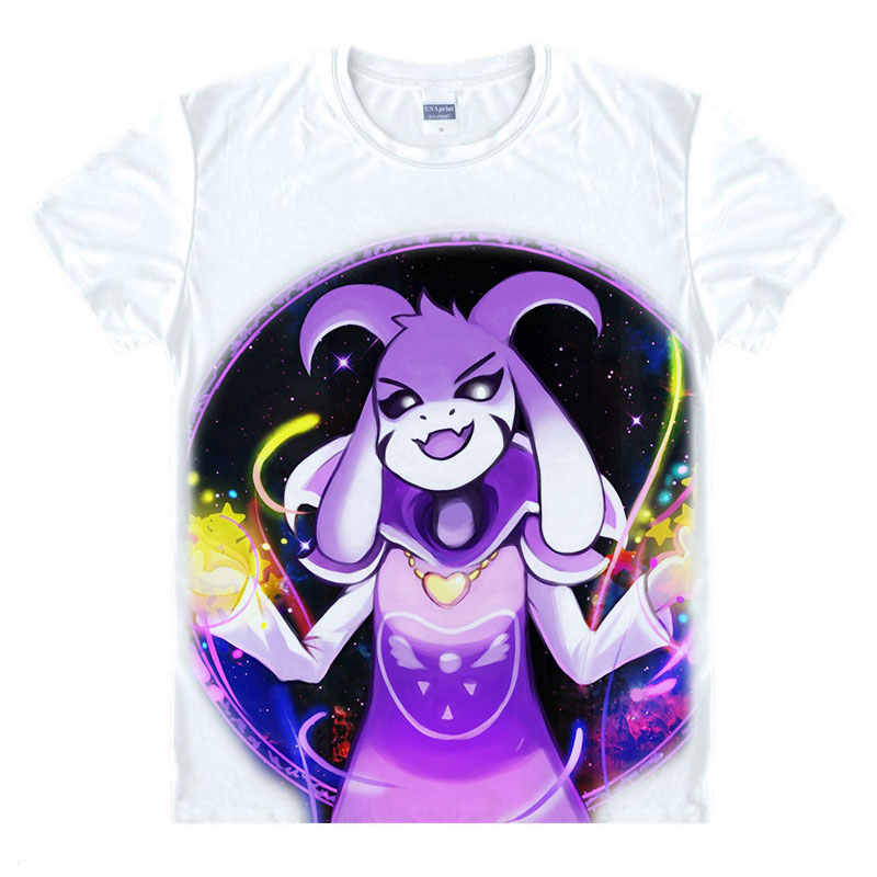 Undertale Frizk and Asriel Dreemurr T shirt Undertale sans and papyrus  T-shirt Napstablook and Mettaton Flowey Cosplay Top Tee