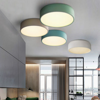 SETTEMBRE Modern Round Colorful Pendant Light Living Room Bedroom Lamp Macaron Bar Ceiling Lamps