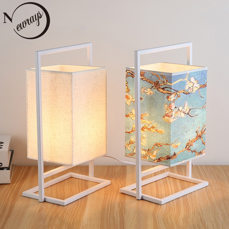 Vintage Chinese Style Table Lamp Art Deco Country Desk Lamp Led E27