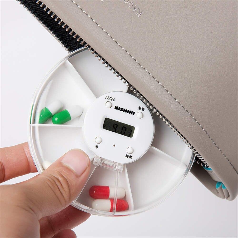 Intelligent Kit Electronic Timing Reminder Kit Portable One Week Small Pill Box Creative Pill Box Timing Reminder