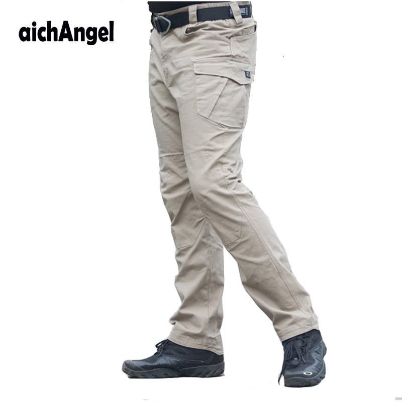 7af43b0ac1b Plus Size Militar Cargo Pants Mens Army Military Pants Man Trousers Thin Men  Casual Breathable Baggy Overalls Military Tactical