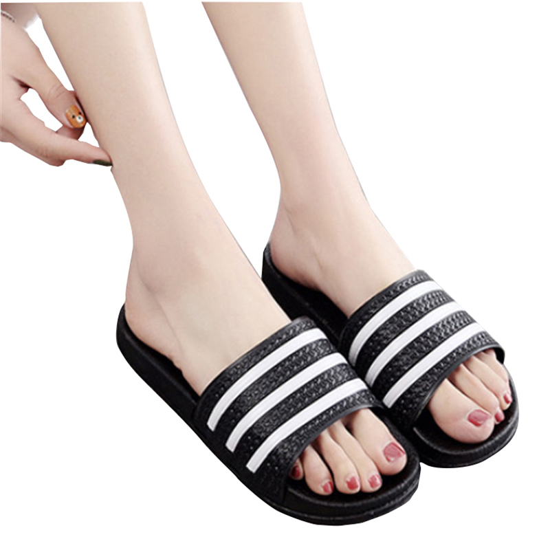Teen Boys Girls Sandals Shoes Teenage Kids Summer Slippers Man Woman Beach Bath Shoes Home Slippers Casual Stripped PVC Shoes 1