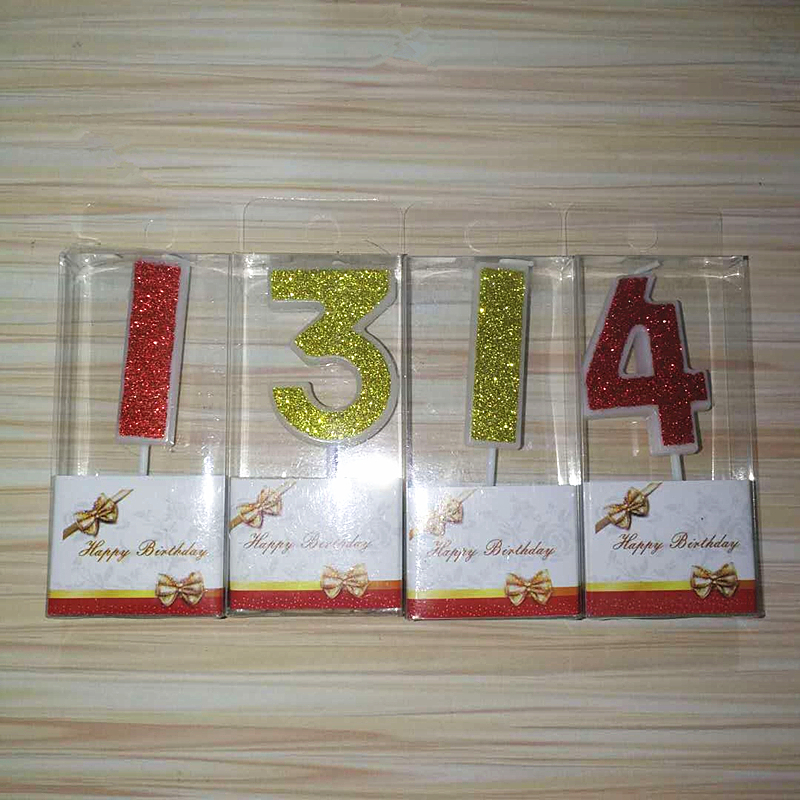 Details Of Birthday Candles Gold Red Number 0 9 Cake Cupcake Topper Party Candle Decoration Supply Click Image