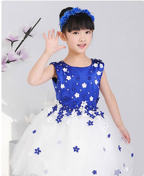 2019 New Arrival Little Girl Ball Gown Kid Girls Party Pageant Dress Girls Flower Dresses For Children Prom Gown TK1177