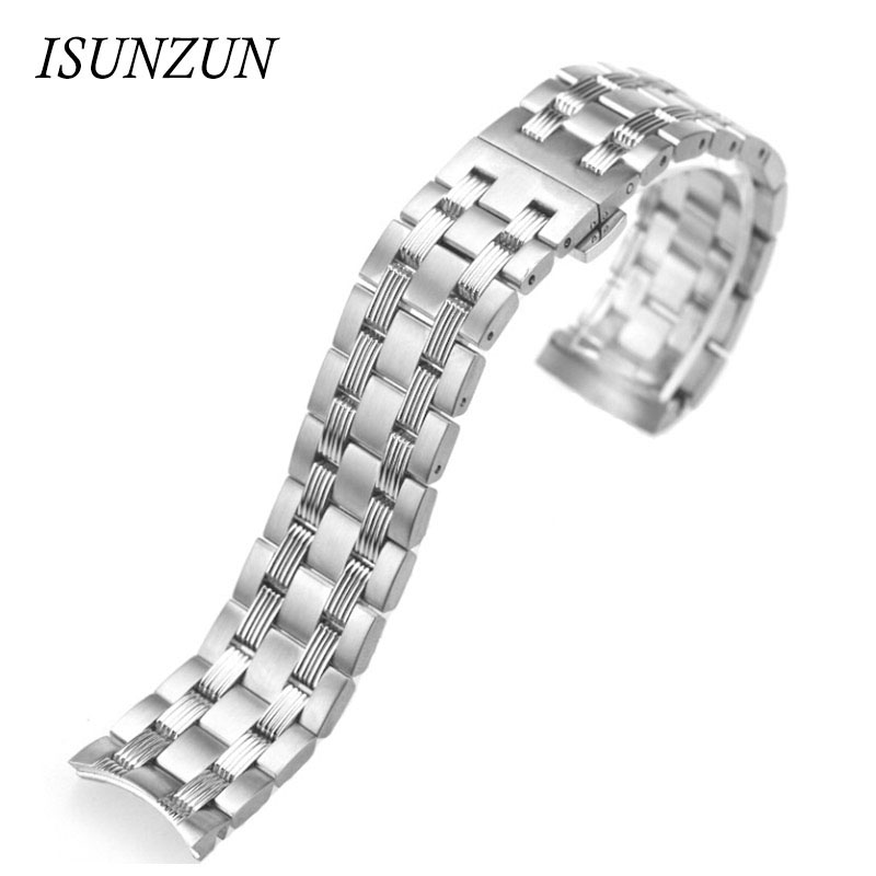 ФОТО ISUNZUN Watch Straps For Tissot 1853 T065.430A High Quality Watch Bands T065 Steel Nato Strap For Men And Women Watchbands