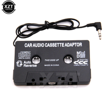 Adaptador aux para carro, fita automotiva conversor de áudio do cassete mp3 3.5mm plugue para ipod iphone mp3 aux cabo cd venda quente do jogador