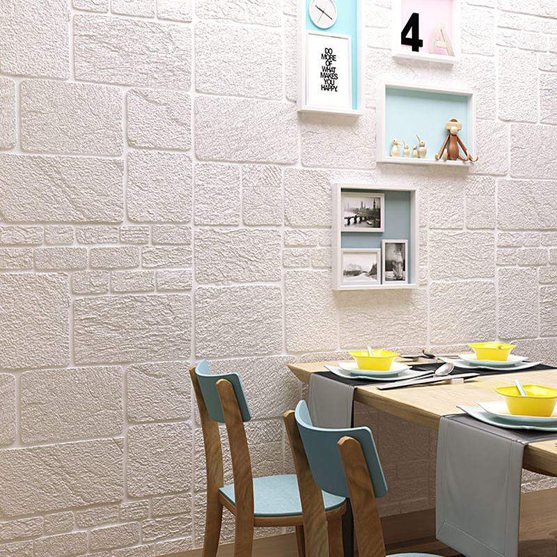 Self-adhesive Wallpaper 3d Solid Wall Tiling Brick Children's Room Wall Around Warm Bedroom Room Decoration 70*70cm