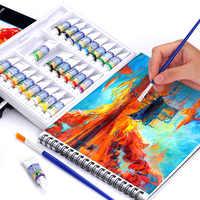 12/18/24 couleurs 5 ml ensemble de peinture à la Gouache de haute qualité Pigment de dessin professionnel pour les fournitures d'art
