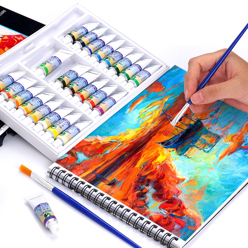 12/18/24Colors 5ml High Quality Gouache Painting Set Professional Drawing Pigment for Art Supplies