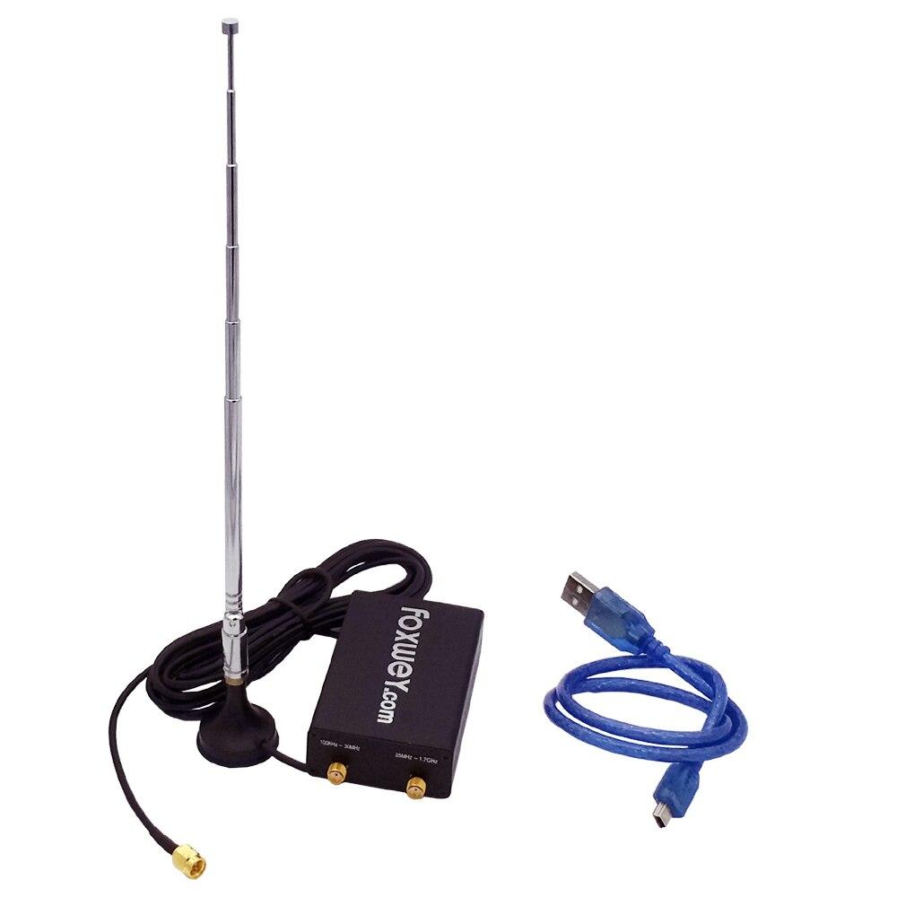 Дешевые RTL SDR радио ключ с SDR чип Realtek RTL2832u R820t2 лучшие антенны легко SDR установить foxwey