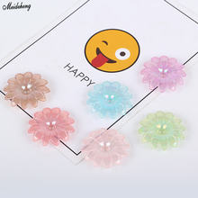 Fashion Bright DIY Jewelry Beads Faced Hairdressing With Hole Petals Simple Scattered Accessory