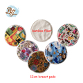 Wholesale Selling 2Pcs/Bag Reusable Waterproof Bamboo Fiber Breast Pad 12cm Round Nursing Pad Breast Feeding Pads