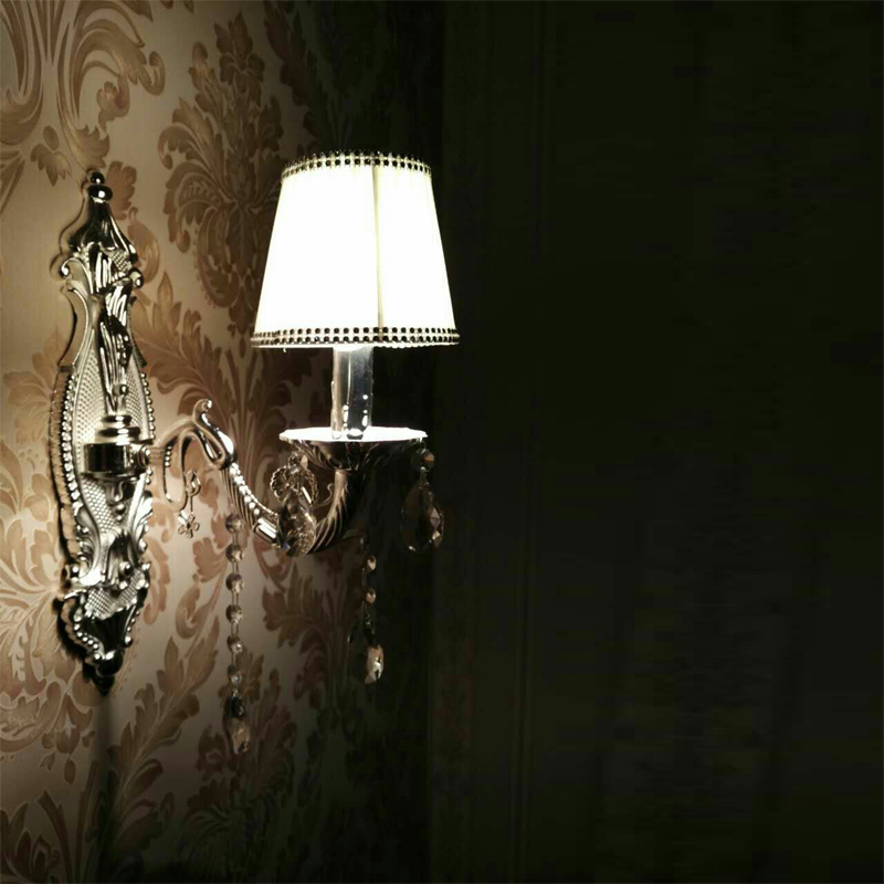 Antique Lamp crystal wall lamps Modern silver aluminium Base lighting wall sconces lamparas de pared Bathroom wall lights new modern dia 12cm creative crystal wall sconces round wall lamp fixtures lighting for hallway bathroom bedside lighting wl210