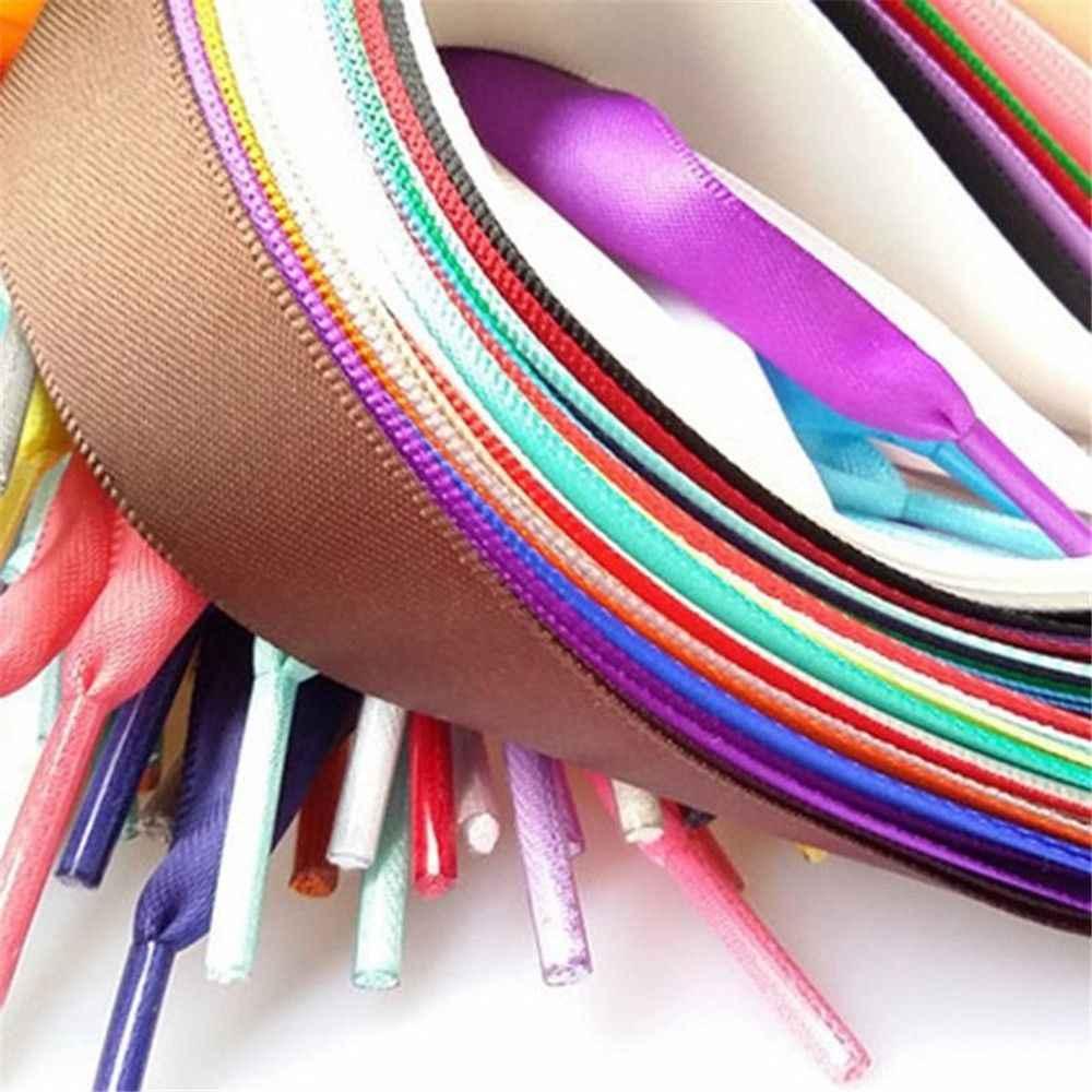 1 пара 15 цветов 2 см ширина атласная шелковая лента шнурки 120 см длина кроссовок спортивная обувь кружева струны дропшиппинг