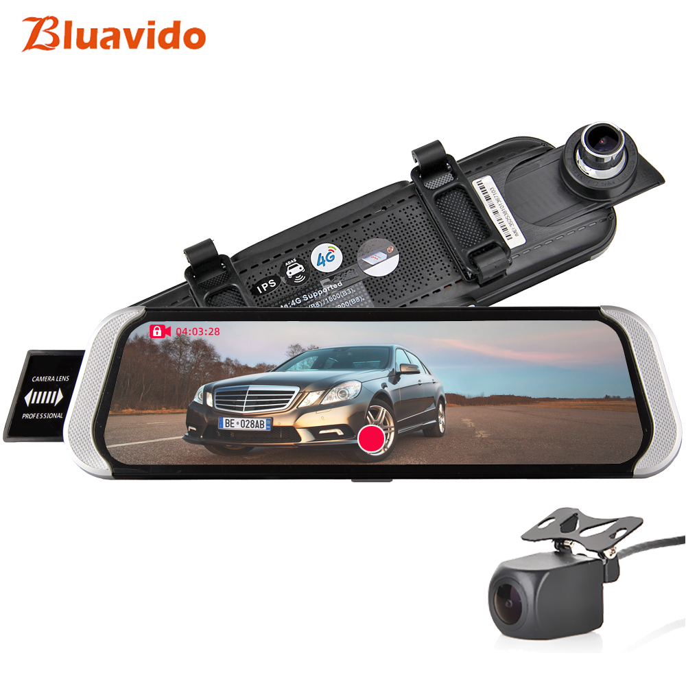 Bluavido 10 IPS Car Rearview Mirror DVR 4G Android GPS Navigation ADAS FHD 1080P Video Recorder