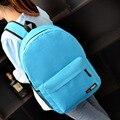 Новая мода сумка женщины рюкзак краткое сплошной цвет стиль учащихся средних школ школьная сумка детский рюкзак путешествия