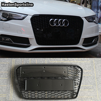 A5 RS5 Style ABS Car Front Bumper Racing Grill Grills for Audi A5 S5 RS5 Sline 2012 2015