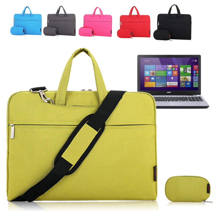 For Acer Aspire V 15 V3-572G 15.6 inch Notebook Laptop Shoulder Bag Soft Pouch Zipper Sleeve Protective Case Briefcase Messenger