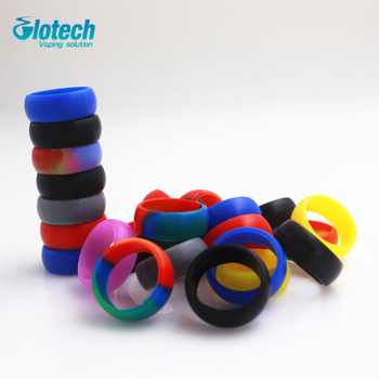 Glotech 100pcs/lot New Ring silicone rubber band vape ring for mechanical mods rda rba decorative and protection vape band
