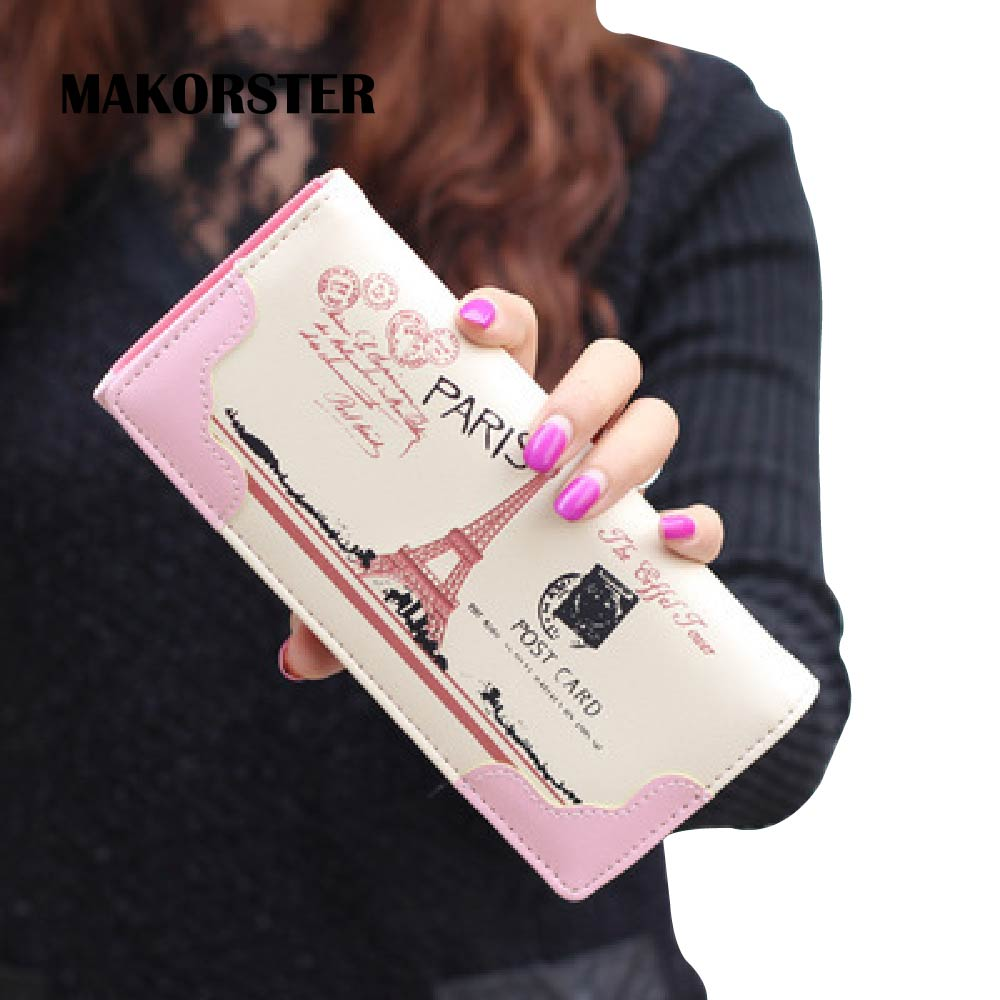 MAKORSTER Eiffel Tiantie Paris high quality Wallet women luxury brand female wallet card wallets for women purse money MK151CS