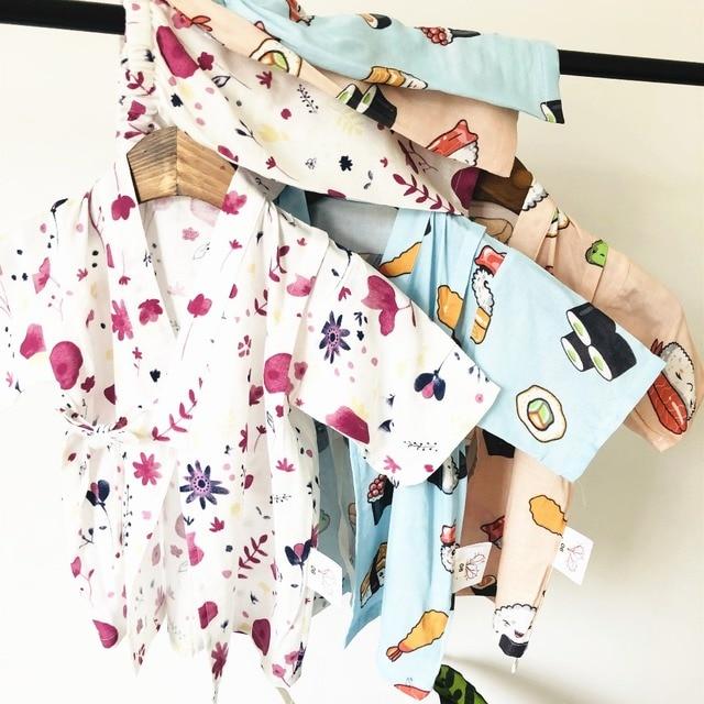 muslin baby girl clothes kids boy summer sleep clothes pijama infantil pajama set Pajama bath clothes 80-120cm