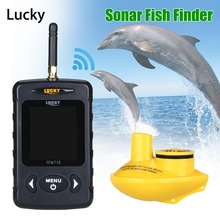 Lucky FFW718 Wireless Fish Finderกันน้ำ 147.6FT SONARความลึกSOUNDER Ocean River Lake Seaตกปลาน้ำแข็งรัสเซียเมนูภาษาอังกฤษ