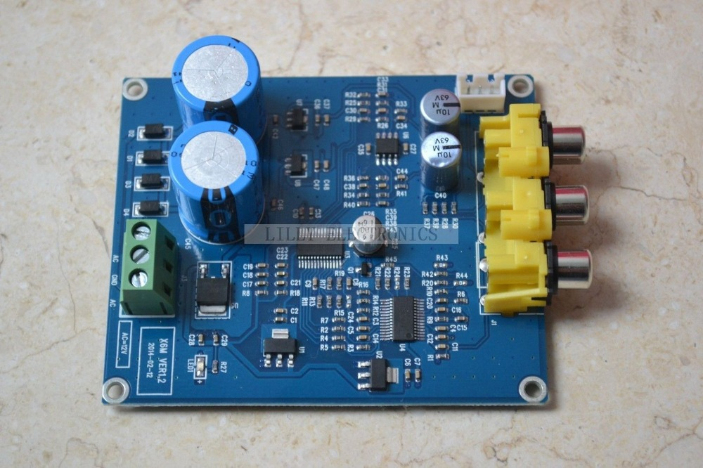 WM8741 DAC+DIR9001+CS8421 Coaxial+Optical Audio Decoder Board AC7-9V Dual hot sale dac board optical fiber coaxial usb dac decoding amp board