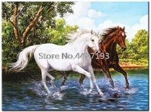 full diamond embroidery bead patterns square 5d diy painting running horse Mosaic rhinestones needlework