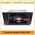 2din Car DVD GPS navigation for Geely emgrand x7/GX7/EX7/EX8/  with Car Radio DVD player WIFI/3G usb host IPOD ATV BT FM