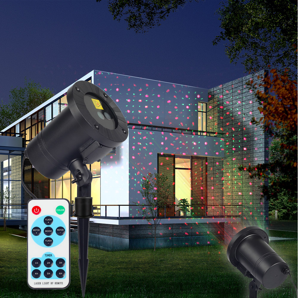 Mini RF Remote Red Green Laser Projector Lights Sparkling Star Xmas Holiday Light DJ KTV Home Party Dsico LED Stage Lighting
