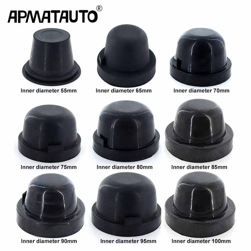 2x HID LED Koplamp Auto Stofkap Rubber Waterdicht Stofdicht Afdichting Koplamp Cover 70mm 75mm 80mm 85mm 90mm 95mm 100mm 105mm